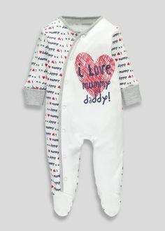 Unisex I Love Sleepsuit (Tiny Baby-18mths)