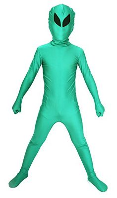 90addde4327f Sheface Kids Alien Full Body Spandex Halloween Costumes (Medium, P05)
