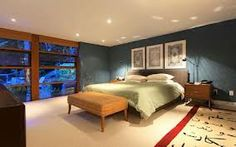 Interior and Exterior Design Home in Modern Sensation: Cool Bedroom Design In Grey Wall Decor Inspiration Of House Designs Inside Ideas With. Home Bedroom, Master Bedroom, Dream Bedroom, Master Suite, Bedroom Ideas, Glass House Design, Grey Wall Decor, Condo Living, Living Room