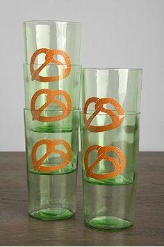 Vintage Pretzel Glass - Set of 5