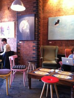Hanging out in a cafe in the east end - there is no better way to spend a rainy sunday afternoon Rainy Sunday, Beautiful Architecture, London, Bar, Table, Projects, Inspiration, Furniture, Home Decor