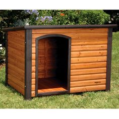 Precision Pet Outback Log Cabin Dog House, Large, 45 1/2x33x33-Inches Precision Pet http://www.amazon.com/dp/B00028J1O6/ref=cm_sw_r_pi_dp_NMkDub08Z0GCK