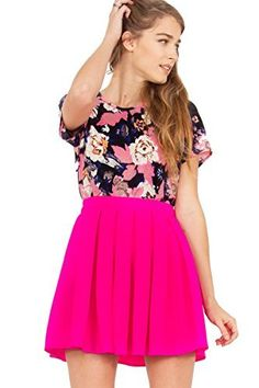 The Sugarlips Bubble Pop Skirt is a hot pink pleated circle skirt. Invisible zipper closure on back. Price : $62.00 #MyLuluCloset #Sugarlips #Skirts