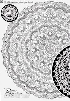 Irish lace, crochet, crochet patterns, clothing and decorations for the house, crocheted. Crochet Tablecloth Pattern, Free Crochet Doily Patterns, Crochet Doily Diagram, Crochet Circles, Crochet Round, Crochet Chart, Crochet Home, Thread Crochet, Crochet Motif