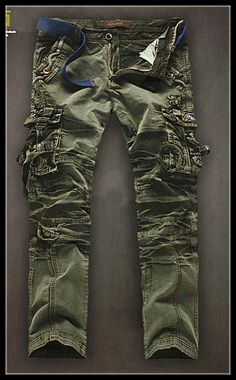 New Military Vintage Camo Style Multi pockets Cargo Pants  (series 2)
