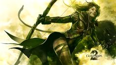 Beautiful Guild Wars 2 Girl Bow Leg Look Wallpaper Wallpaper