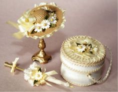 Millinery in Miniature, Lesson 2 Minis, Hat Tutorial, Fancy Hats, Hat Boxes, Hat Shop, Barbie Accessories, Antique Lace, Miniture Things, Dollhouse Miniatures