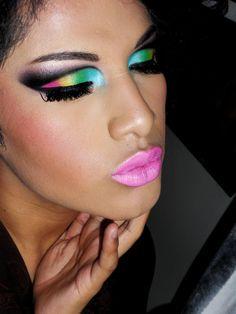 Edgy Cut Crease  By: Makeup Buffet. I looooooooove it! The eyes, the lips, everything!