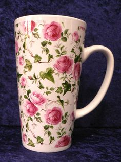 Ivy Rose chintz ceramic large latte mug 3/4pt capacity
