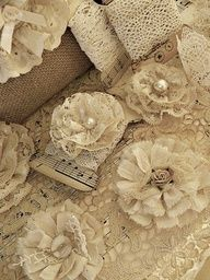 lace fabric flowers