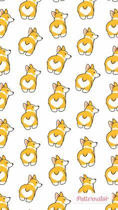 Dogs Wallpaper Pattern Animals 35 Ideas, You Corgi Wallpaper Iphone, Dog Wallpaper, Kawaii Wallpaper, Animal Wallpaper, Pattern Wallpaper, Cute Wallpaper Backgrounds, Cute Wallpapers, Dog Background, Ariana Grande Fotos