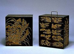 The Kodai-ji Maki'e method, which was used for this chest, was a representative lacquerwork technique in the Momoyama Period. This chest is one of the most excellent extant Kodai-ji Maki'e lacquerworks.