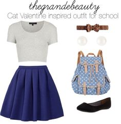 Ariana Grande Inspired Back to School Outfits Girly Outfits, Outfits For Teens, Pretty Outfits, Cool Outfits, Casual Outfits, Summer Outfits, Cute Fashion, Teen Fashion, Fashion Outfits