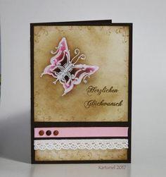 Stempel: Karten-Kunst Clear Stamp Set - Schnörkel-Schmetterlinge, Karten-Kunst Clear Stamp Set - Texte-Kombination  #Karten-Kunst #kartenkunstshop #kartenbasteln #cardmaking #papercraft #kartendesign #stempel #stamping #maskieren #Schmetterlinge Vintage Butterfly, Clear Stamps, Stampin Up, Blog, Frame, Decor, Homemade Cards, Stamping