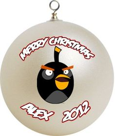 Angry Birds Christmas Decorations | Personalized Angry Birds Christmas Ornament Custom Gift #2