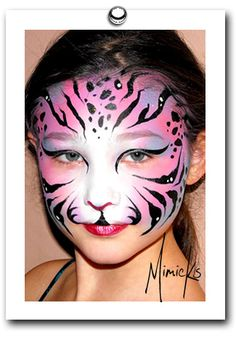 lilac tiger by mimicks face painting