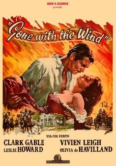 """Gone with the Wind"", epic historical romance film by Victor Fleming, George Cukor and Sam Wood (USA, 1939)"