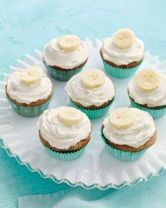 Favorite Cupcakes // Banana Cupcakes with Honey-Cinnamon Frosting Recipe