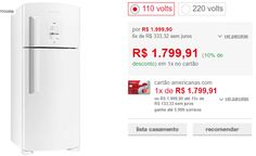Refrigerador Brastemp Duplex Frost Free Ative! BRM48 403 Litros Branco >