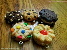 Polymer Clay Cookie Charms *for sale by pale-swan.deviantart.com on @deviantART