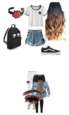 """Untitled #36"" by dariana-achim on Polyvore featuring Pilot, Topshop, Disney Stars Studios, Vans and WithChic"