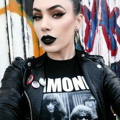 Micheline Pitt wearing Black Cat by Pretty Zombie Cosmetics<3