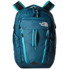 The North Face Women's Surge (Blue Coral/Bluebird) Backpack Bags
