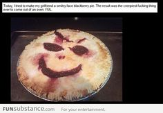 I tried to make a smiley face pie
