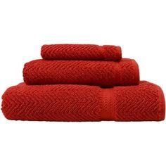 Herringbone Weave 100% Turkish Cotton 3 Piece Towel Set Color: Terracotta