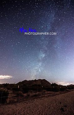 Milky way photo by MeThePhotographer.com, shot over San Tan Mountain Regional Park, Queen Creek, AZ