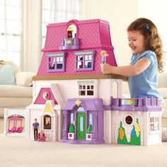 The Loving Family™ Mom, Dad and Baby invite you into their spacious, stylish 4-floor home!