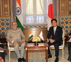How soon will the Indian and Japanese people be able to palpably reap the benefits of their countries' political embrace? (PM and Prime Minister of Japan Shinzo Abe, at the Restricted Meeting, at Akasaka Palace, Tokyo by Narendra Modi. CC BY-SA 2.0 via Flickr.)