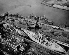 USS Tennesee and USS California in dry dock together is what you would call a tight fit. Location Drydock #4 Philadelphia Navy Yard