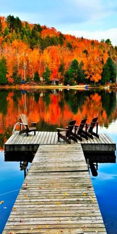 The Lake in Autumn.