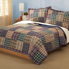 Quilt set includes 1 full / queen quilt, 86 x 86 inches and 2 standard shams, inches. Face cloth is cotton. Features Full / Queen Quilt with 2 Shams Machine washable Face cloth is cotton. King Quilt Bedding, Plaid Bedding, Plaid Quilt, Twin Quilt, Queen Quilt, King Comforter, Plaid Flannel, Red Plaid, Comforter Sets
