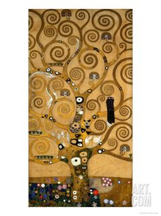 The Tree of Life, Stoclet Frieze, c.1909 Art Print by Gustav Klimt at Art.com