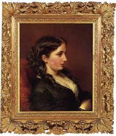 Study of a Girl in Profile by Franz Xavier Winterhalter  LOOK: at that frame !