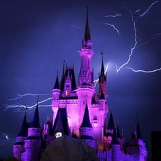 """Just before the nightly Magic Kingdom fireworks show began at Orlando's Walt Disney World on Friday, a storm descended on the """"happiest place on earth,"""" creating an effect both terrifying and awe-inspiring. 