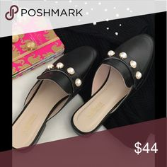 Cat hernie Malandrino black Pearls Mules New without box mule slides with banded faux pearls . Lightly cushioned footbed Catherine Malandrino Shoes Mules & Clogs