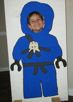 Life-sized LEGO Ninjago cutout.  Fun to do a few for a party.