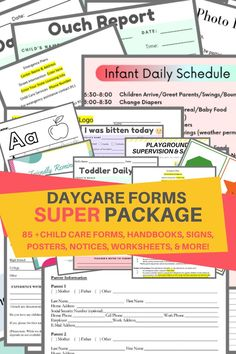 YOU ASKED FOR MORE SO HERE IT IS! The SUPER BUNDLE! Included in this package is all the forms, handbooks, & posters you need to start your own daycare business. This Daycare Complete SUPER Package includes 85+ forms to help you run a successful and profitable childcare center. This package includes the 43+ forms from the complete package plus 12 COVID documents and signs to be used during the pandemic plus 30 additional forms from my shop. If you bought everything individually, you would spend.. Parent Handbook, Employee Handbook, Letter Flashcards, Interview Guide, Starting A Daycare, Dealing With Anger, Notes To Parents, Daycare Forms, Teacher Notes