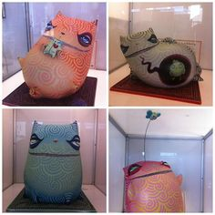 Check out these cool looking cats by Oscar Garcia Segui at the POP Gallery in Orlando, FL. Via MoreThanSunshine.com