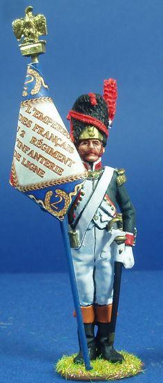 NP 175 GRANADEROS DE LINEA 1804 ABANDERADO Lead Soldiers, Toy Soldiers, Military Uniforms, Figure Model, Figure Painting, Diorama, Captain Hat, Arms, Miniatures
