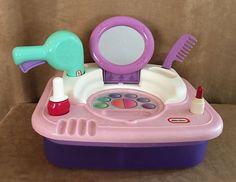 Little Tikes Beauty Salon Makeup Dress-up Lipstick Vanity Mirror pink table top #LittleTikes