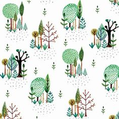 Tree pattern design by Jessica Baldry