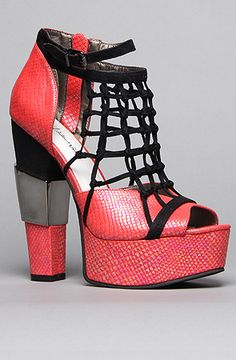 The Townsend Shoe in Red Reptile by *Sole Boutique