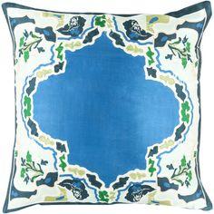 "World Menagerie Genie 100% Silk Throw Pillow Cover Size: 20"" H x 20"" W x 0.25"" D, Color: Purple\Purple"