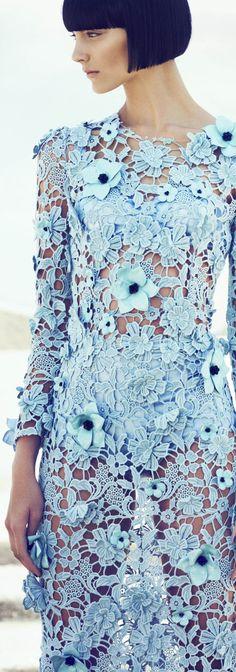 Gorgeous Blue Lace Dress, Bra And Knickers By Dolce  Gabbana - (fashiongonerogue)