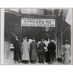 Passers-By Looking at Window Display at the Headquarters of National Association Opposed to Woman Suffrage