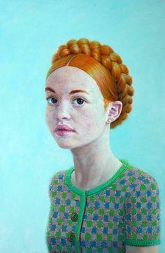 "Saatchi Online Artist: Herman Tjepkema; Oil, Painting ""Eva"""